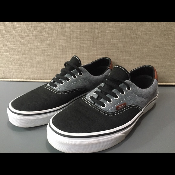 8ae52d8226da Vans Era 59- Grey black canvas and brown leather. M 5aff304c8af1c5fc749e787f